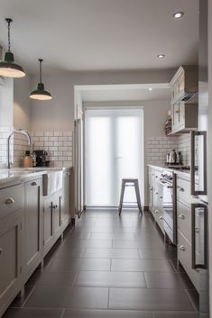 Galley Kitchen Ideas for a Contemporary Kitchen with a Galley Kitchen and the Hither Green Shaker Kitchen by deVOL by deVOL Kitchens Devol Kitchens, Galley Kitchens, Home Kitchens, Farmhouse Kitchens, English Kitchens, Small Kitchens, Shaker Kitchen, New Kitchen, Kitchen Decor
