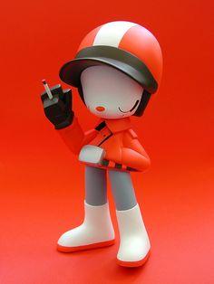 wonderwall, kaijin's super jepel figure (orange version - by j_pidgeon… Simple Character, Character Design, 3d Character, Vinyl Toys, Vinyl Art, Space Games, Mascot Design, Game Concept Art, 3d Prints