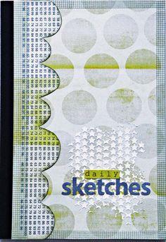 Gepimptes Skizzenbuch-Cover von Irma de Jager für www.danipeuss.de