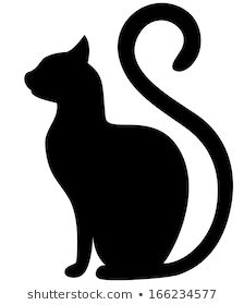 Find Black Cat Silhouette On White Background stock images in HD and millions of other royalty-free stock photos, illustrations and vectors in the Shutterstock collection. Black Cat Silhouette, Silhouette Images, Animal Line Drawings, Cat Love Quotes, Cat Template, Black Cat Tattoos, Notebook Art, Mandala Stencils, Halloween Silhouettes