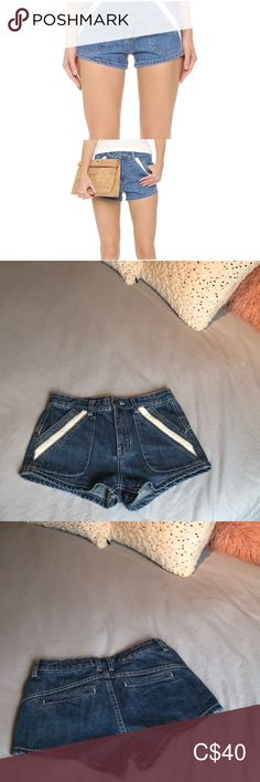 Free people - Sweet Surrender High Rise Shorts Free People Denim Shorts Adorable lace pocket detailing High Rise Never worn / brand new without tags Size 25 Free People Shorts Jean Shorts Plus Fashion, Fashion Tips, Fashion Design, Fashion Trends, High Rise Shorts, Pocket Detail, Jean Shorts, Free People, Blue And White