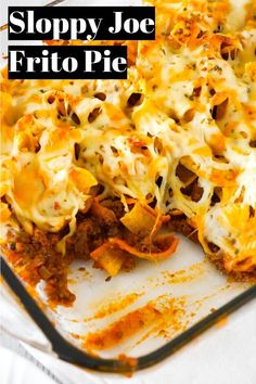 Sloppy Joe Frito Pie is an easy ground beef dinner recipe perfect for weeknights. Ground beef and onions are tossed in homemade sloppy joe sauce and then topped with Frito's corn chips and cheddar cheese. Beef Recipes For Dinner, Ground Beef Recipes, Meat Recipes, Mexican Food Recipes, Cooking Recipes, Recipes With Hamburger, Drink Recipes, Pasta Recipes, Appetizers
