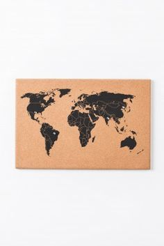 Diy chalk cork board map gallery wall tutorials on how to make world map cork board gumiabroncs Gallery