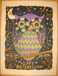 2011 Lady Antebellum - Springfield Concert Poster by Nate Duval