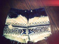 Aztec Ombre shorts!!