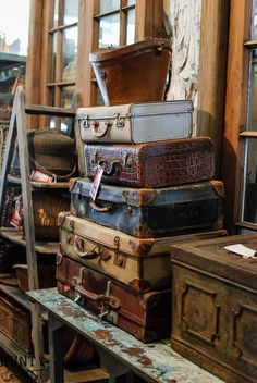 Spring 2017 Trends From Round Top Antiques Week. Old SuitcasesNature  DecorVintage ...