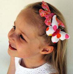 Happy Butterfly Barette hairclip set of 2 / by MissAdorable, $19.00