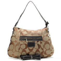 Coach Legacy In Signature Medium Khaki Shoulder Bags ABC