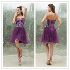 New Arrivals! HOMECOMING DRESS  A-line sweetheart/strapless/tulle  all sizes and colors available  http://letsprom.com/Products/Ball-Gown-Sweetheart-Tulle-Beading-Knee-Length-Dress