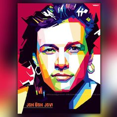 Erik Ariza on Instagram: Jon bon jovi in pop art indonesia #jonbonjovi #actress #art #digitalart #disgn #wpap #popart #portrait #illusstrator