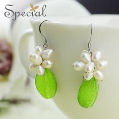 Special New Fashion 925 Sterling Silver Ear Hook Earrings Natural Pearls Ear Piercing Earrings Jewelry Gifts for Women S1665E