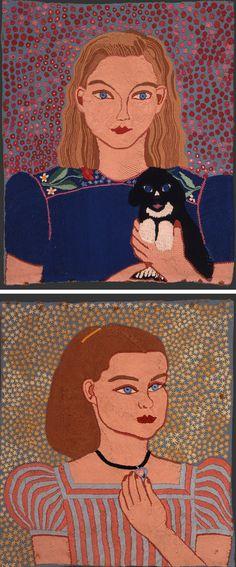 Vintage embroidery by Mariska Karasz // embroidered portrait