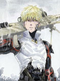 Saitama x genos Anime One, Anime Manga, Anime Guys, Anime Stuff, Anime Figures, Anime Characters, One Punch Man 3, Otaku, Draw