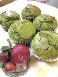 Matcha green tea muffins with cream cheese