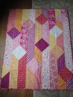 Baby Girl Bejeweled Quilt