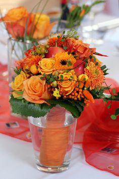 Brautstrauß Rot-Orange