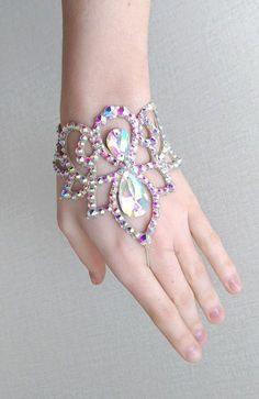 Ballroom bracelet, belly dance bracelet, crystal bracelet, rhinestone bracelet, dancesport, latin, belly dance jewelry, ballroom jewelry, belly dance costume, ballroom dress