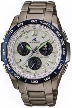 Casio OCW600TDBA-7AV Mens Watch Titanium Oceanus White Dial Atomic Solar World Time
