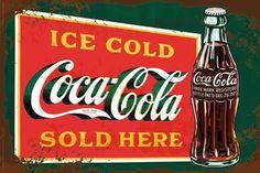 Coca-Cola - stencil art Poster