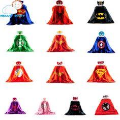 Mask Cape Superman Spiderman Kids Superhero Capes Batman Superhero Costume Su... - Visit to grab an amazing super hero shirt now on sale!