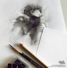 """Niffler """"Fantastic Beasts and Where to Find Them"""" by Michelle's world of art."""