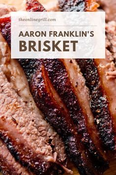 Aaron Franklin's take on smoked brisket has become one of the most renowned worldwide. Learn how to make one of the world's best smoked brisket recipes today! Best Smoked Brisket Recipe, Smoked Beef Brisket, Smoked Meat Recipes, Smoked Brisket Injection Recipe, Brisket Recipe Smoker, Best Brisket Rub, Baked Brisket, Grilled Brisket, Barbecue