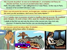 ***Dialogue : Phone call for an accident - learn French...this website has tons of french interactive learning activities...all FREE