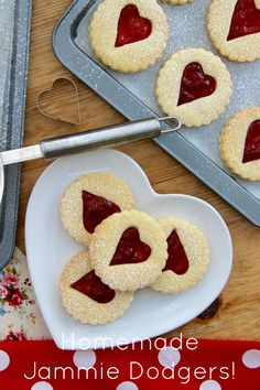 Homemade Jammie Dodger Biscuits based on the classic biscuit. Soft, sweet &…