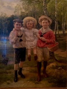 Oil portrait on canvas.  Illegibly signed.  circa 1890