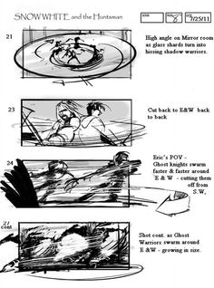 'Snow White and the Hunstman'  Storyboard Artist: Jeff Errico