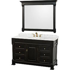 Shop for Wyndham Collection Andover Black 55-Inch Solid Oak Bathroom Vanity. Get free delivery at Overstock.com - Your Online Furniture Outlet Store! Get 5% in rewards with Club O!