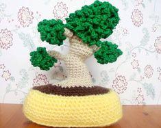 Patroon voor het zelf haken van een bonsaiboompje € 3,08 (alasascha.etsy.com)
