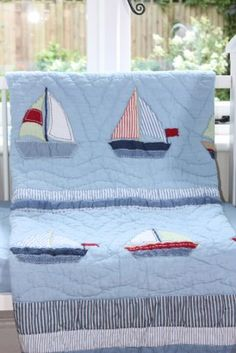 Babyface Boats Cot Bed Quilt