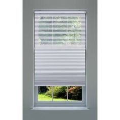 Ebern Designs Custom Crystal Blackout and Sheer White Cellular Shade Blind Size: x Zebra Shades, Cellular Shades, Window Sizes, Shades Blinds, Decor Pillows, Roller Shades, Room Darkening, Layers Design, Blinds For Windows