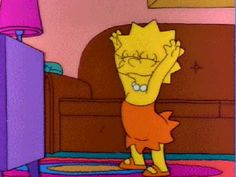 GIF From Lisa || The Simpsons