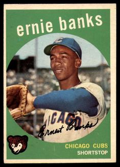 1959 Topps #350 Ernie Banks Ex-Mint Cubs  #Topps #ChicagoCubs