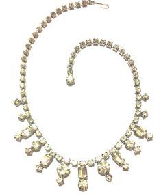 Vintage Sparkly Clear Rhinestone Necklace by VintageGemsAndPurls