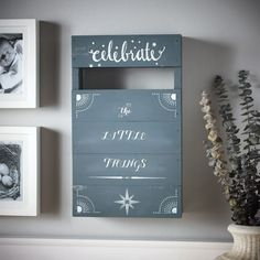 Create a rustic pallet decor piece using Martha Stewart Crafts® paint and stencils. Your guests ...