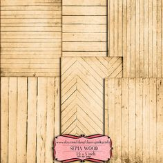 Sepia Wood digital image printable sepia by CherryPinkPrints