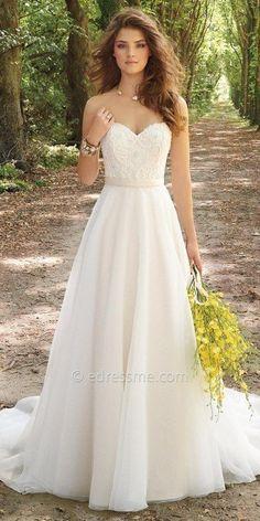 Camille La Vie Corset Organza Wedding Dress at eDressMe #affiliatelink