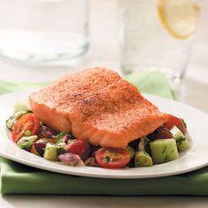Salmon with Vegetable Salsa
