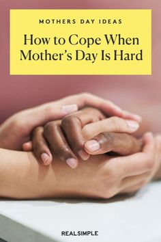 How to Cope When Mother's Day Is Hard | If Mother's Day is tough for you, you're definitely not alone. Whether you're estranged from your mom, have a difficult relationship with her, or she's passed away, here are a few ways to navigate the day. #mothersdayrecipes #realsimple #mothersdayideas #giftideas Difficult Relationship, Real Simple, Holiday Fun, How To Become, Best Gifts, Entertaining, Mom, Real Simple Magazine, Mothers