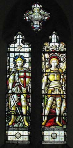 https://flic.kr/p/HzCTM | St George & St Michael | Victorian glass in Taynton's south aisle.