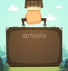 Wektor: Briefcase in a hand, business illustration