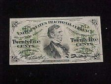 LQQK!! ---- *** 3RD ISSUE FR1294 FRACTIONAL U.S CURRENCY 25 CENT NOTE - VG ***