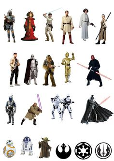 21 Stand Up Star Wars Characters Edible Wafer Paper Cake Toppers Decorations: Amazon.co.uk: Kitchen & Home