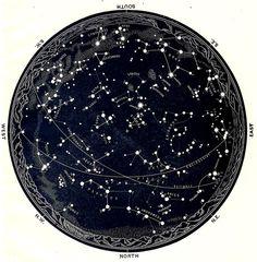 celestial constellation map