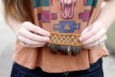 Leather N Feather necklace