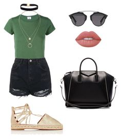 """Untitled #98"" by kittyearsgirl on Polyvore featuring RE/DONE, Topshop, Aquazzura, Givenchy, Sole Society, Christian Dior and Lime Crime"