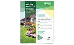 Landscaper Flyer Template Design